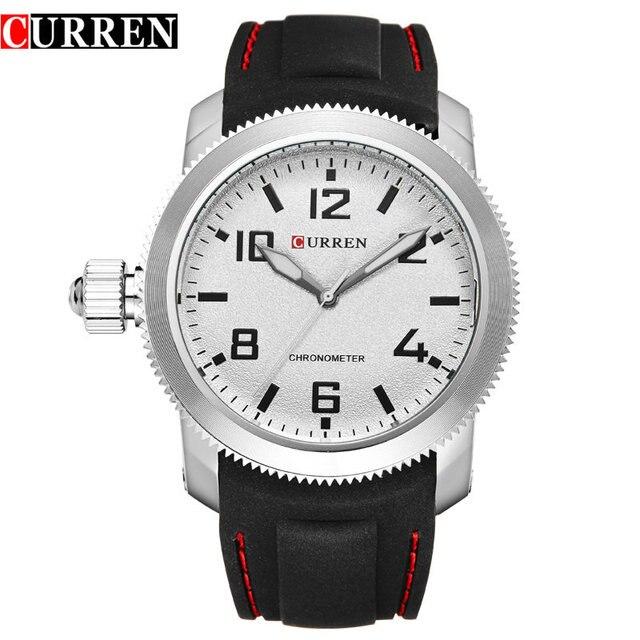 Curren Relojes Hombre left-hander Wrist watch quartz men luxury famous brand Quartz Clock Vogue men Wristwatch rubber new 5