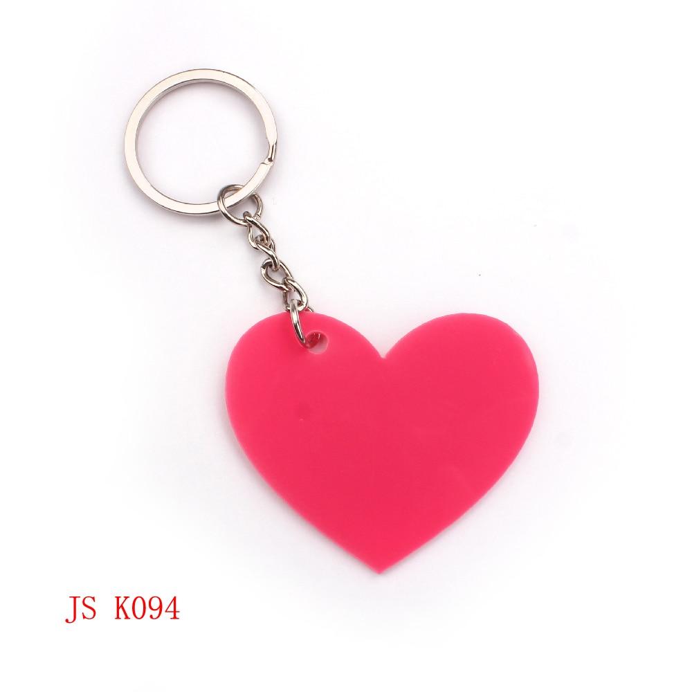 e75fd1ed64a10 (200 peças lote) Coração Rosa Fábrica OEM Keychain Da Promoção Item Barato  Acrílico Design Personalizado Crianças Keychain Chaveiro Promoção