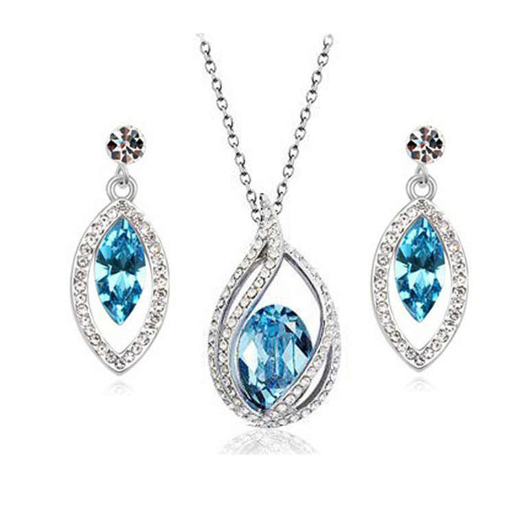 Jewelry Sets Necklace and Stud Earring White Bridal Wedding Jewelry Sets Nickel Free African Costume Jewelry Set For Women