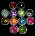 NRB  3mm Hexagon Glitter Sequins Nail Art Slice 12 PCS Acrylic Bottle Packing  For Powder Decoration Kit Free Shipping