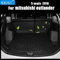 RKAC Car Custom Special Trunk Mats For Mitsubishi Outlander 7seats Durable Waterproof Carpets For Outlander 5 Seats 2018