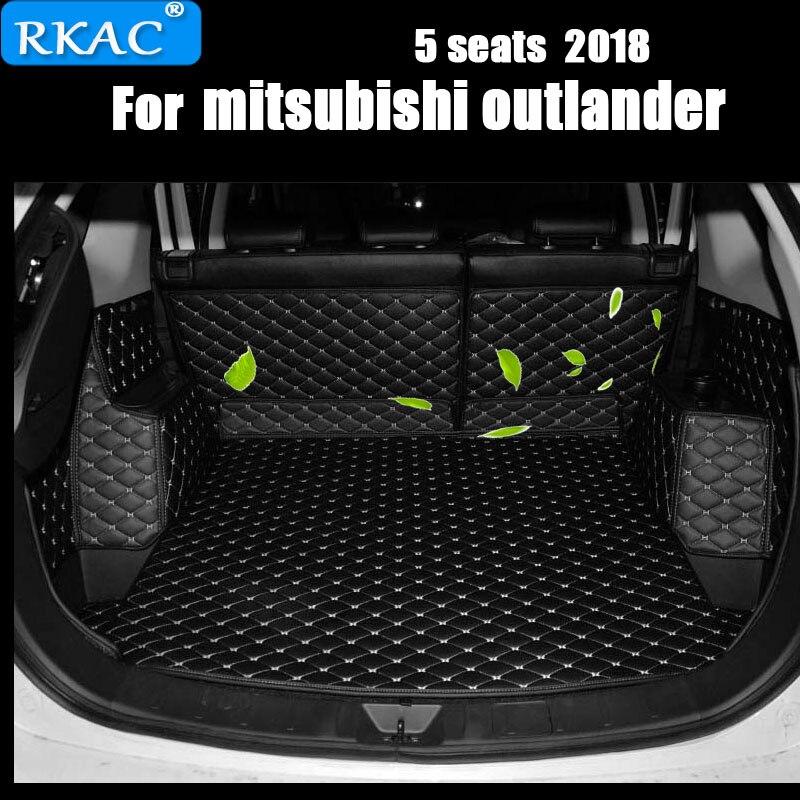 RKAC Custom Car Tappetini Tronco Speciale Per Mitsubishi Outlander 7 sedili Durevole Impermeabile Tappeti Per Outlander 5 Sedili 2018