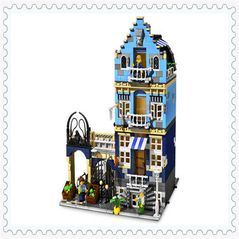 LEPIN 15007 City Street Factory Market Street Building Block Compatible Legoe 1275Pcs    Toys For Children lepin 24021 city creator 3 in 1 island adventures building block 379pcs diy educational toys for children compatible legoe