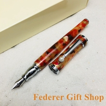 Fountain Pen Fuliwen F037 Color Pen High Quality Acrylic Case and Pearl Folder Clip Gift Ink
