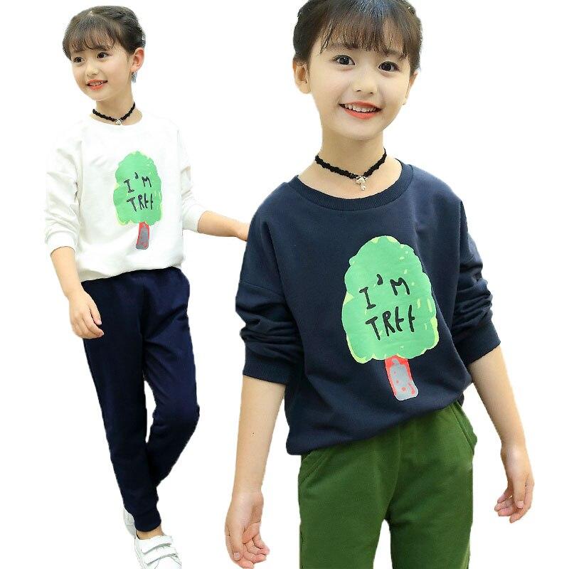 V-TREE Boys&Girls Clothing Set Spring Autumn Long Sleeve Sport Suit For Baby Girl Tracksuit Children School Uniform 2 Pcs/set v sport ft209 2