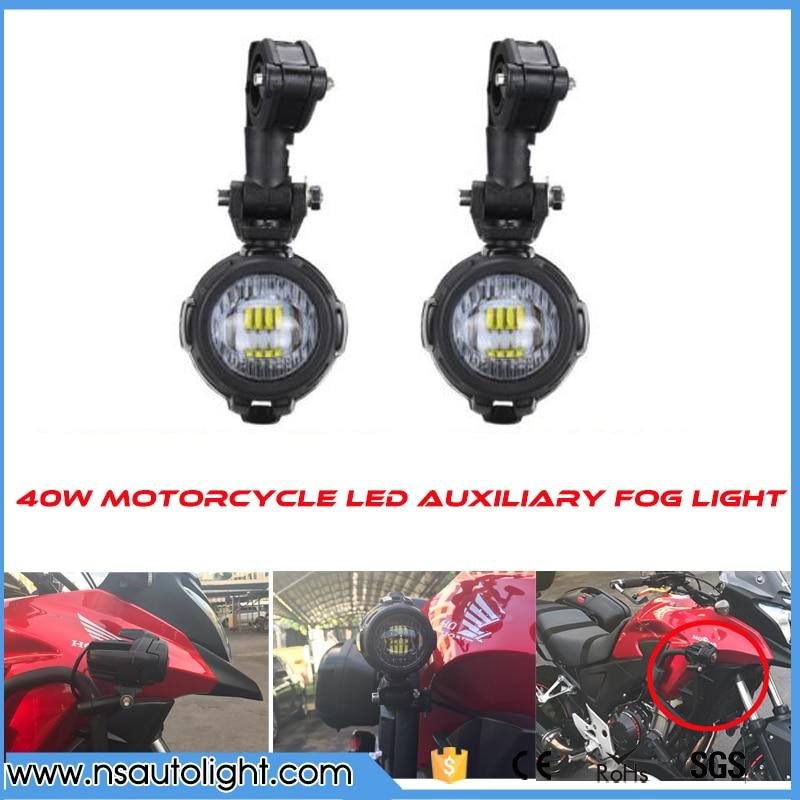 Одна пара светодиодов мотоцикл Противотуманные Универсальный мотоциклов из светодиодов вспомогательный Противотуманные фары блок фары дальнего света 40Вт фары для BMW Мото