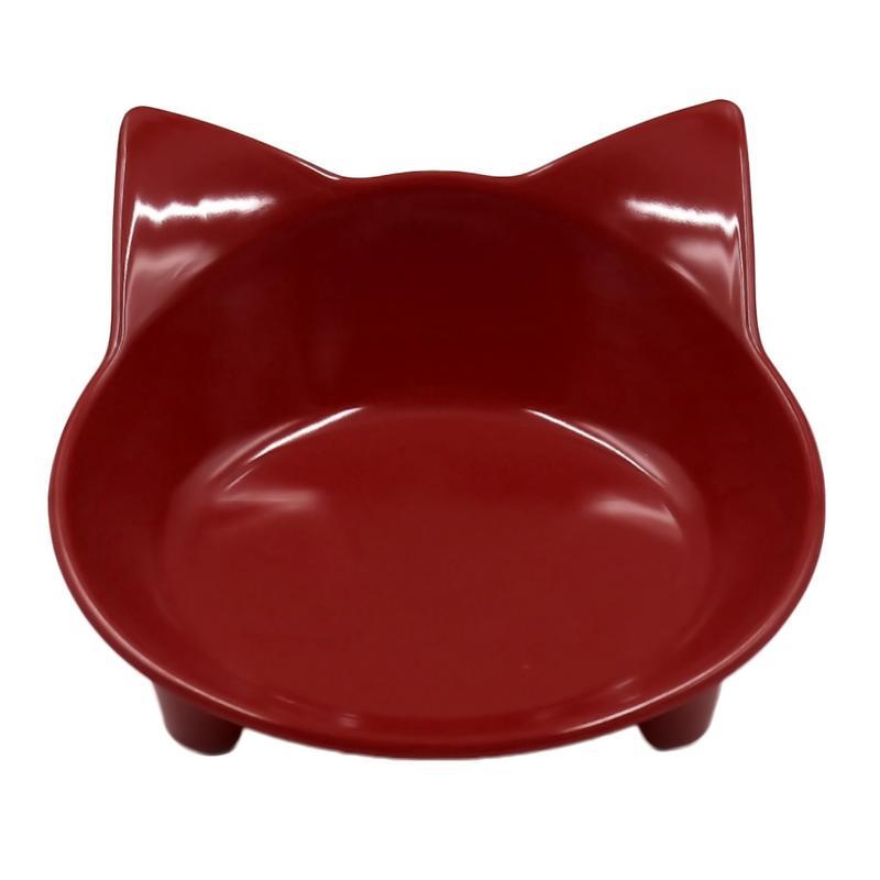 Автомобильная чаша, 8 цветов, кошачья форма, посуда для домашних питомцев, миска для домашних питомцев, кормушка для кошек и собак, посуда для маленьких собак, миска для воды, аксессуары для домашних животных - Цвет: Burgundy