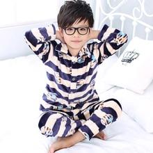 Autumn/Winter Children Fleece Pajamas Warm Flannel Sleepwear Girls Loungewear Coral Fleece Kids pijamas Homewear Winter Pyjama