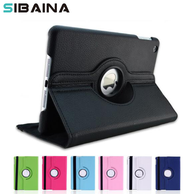 360 Rotation  Case Cover for iPad 2017 2018 PU Leather Flip Smart Stand 360 Rotating Case For iPad 2017 Tablet Stand Funda Case