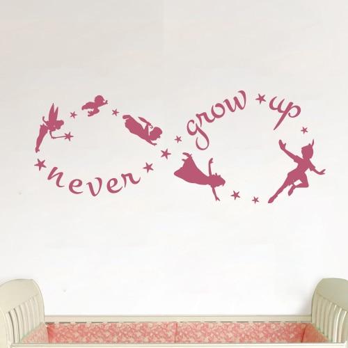Peter Pan Never Grow Up Vinyl Wall Door Art Decal Removable Sticker