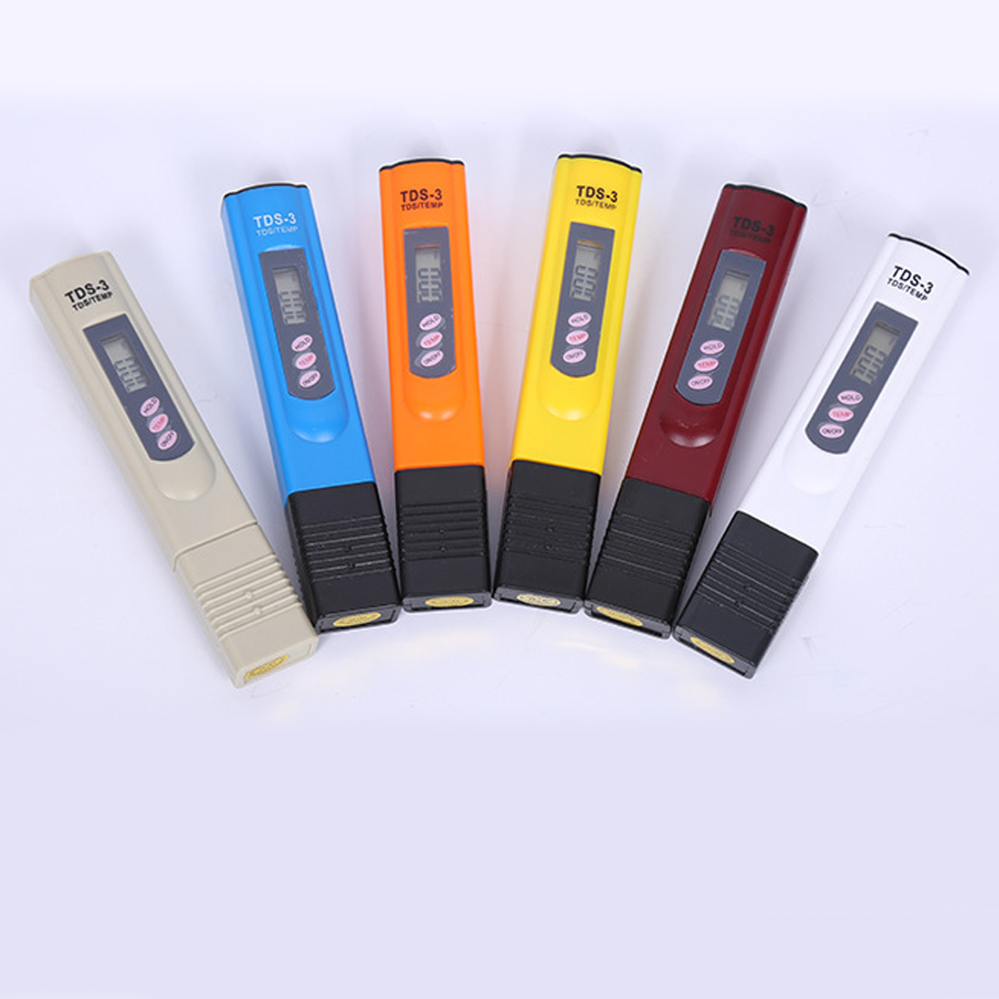 Portable PH tester Digital LCD Water Quality Testing Pen Purity Filter TDS Meter Tester 0-9990 PPM Temp Color Random 0 1000 ppm pen type tds meter pocket digital tds water quality analysis laboratory electrical lcd ppm value temperature tester