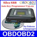Newest SBB Silca Key Programmer V33.02 SBB Immobilizer Key Pro Maker Transponder For Multi Brand Cars No Need Tokens 9 Languages