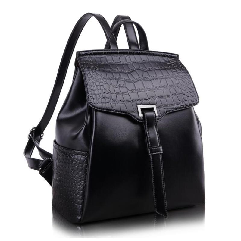 купить fashion 2016 new arrived casual travel Genuine leather women backpack sweet student schoolbag famous brand Designer shoulder bag недорого