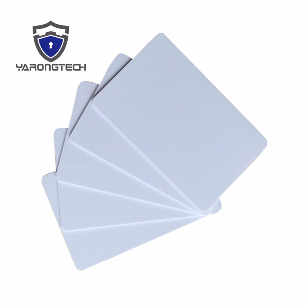 230pcs/lot Blank white Plastic inkjet id card for Epson & Canon can print double-sided 20pcs lot double direct printable pvc smart rfid ic blank white card with s50 chip for epson canon inkjet printer