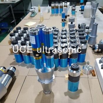 Transductor y Cuerno piezoeléctrico ultrasónico de la soldadura de la cerámica de 6 uds para la máquina de soldadura plástica