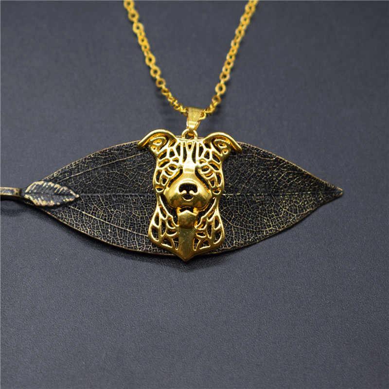 שדוני פיטבול שרשראות זהב צבע כסף צבע כלב תכשיטי האמריקאי פיטבול טרייר תליון שרשראות נשים גברים תכשיטים