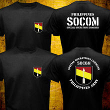 2019 Fashion Double Side New Philippines Army Special Operations Command Socom Military Forces T-Shirt Unisex Tee цена