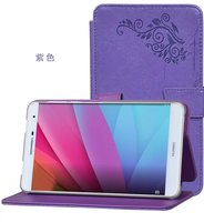 New Luxury Magnetic Folio Stand Fashion Prints Flower Leather Case Cover For Huawei Mediapad T2 7