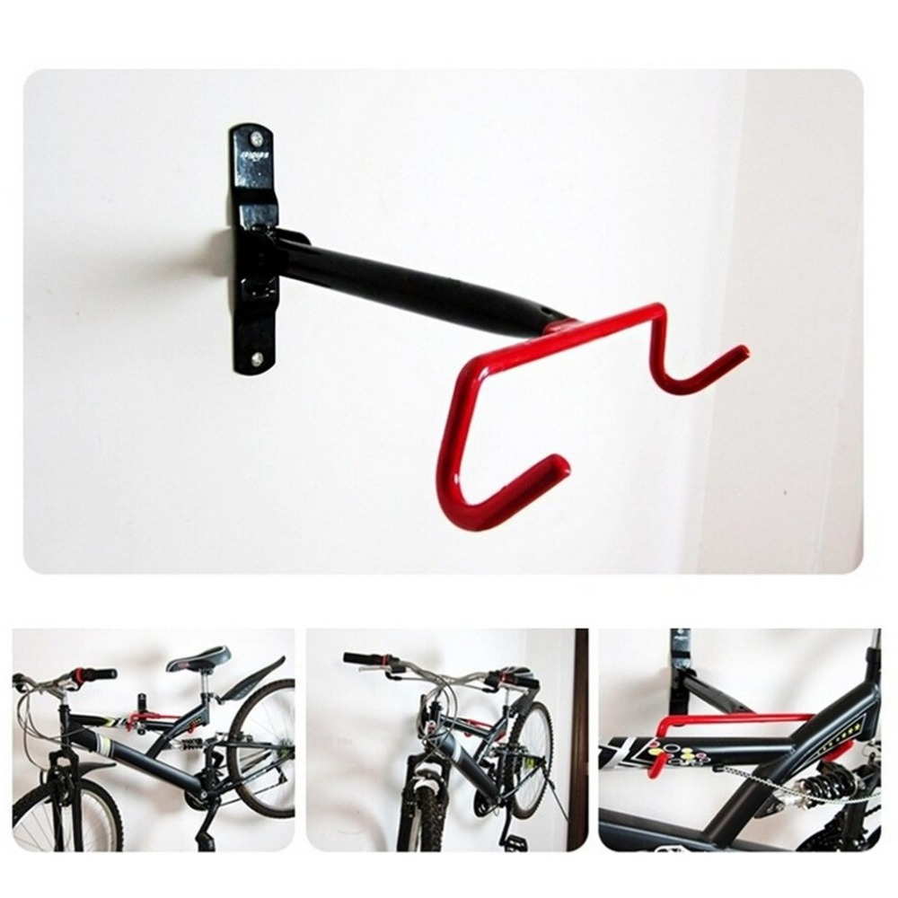 1pc/2pcs Bicycle Storage Holder Rack Stand Garage Bike Wall Mount Hook Hanger Cycling Accessory Universal For Most Bikes