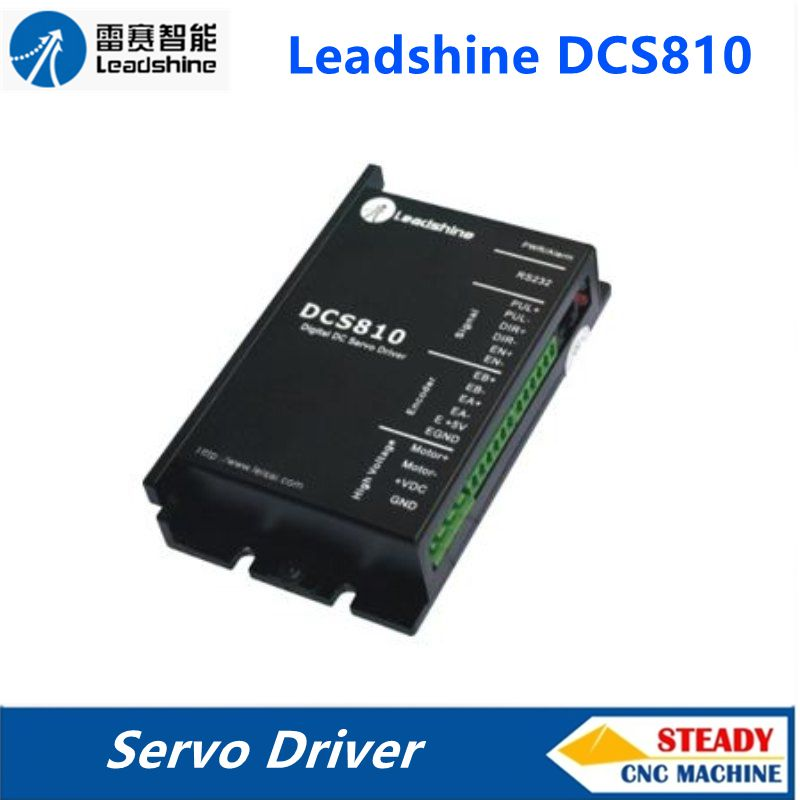 Leadshine DC servo driver DCS810 work 24-80 VDC out 1A to 20A suitable for DCM50207/DCM50205 motor leadshine gongzheng gzc3212dp gzcs3206 3208ds printer dc servo motor drive dcs810