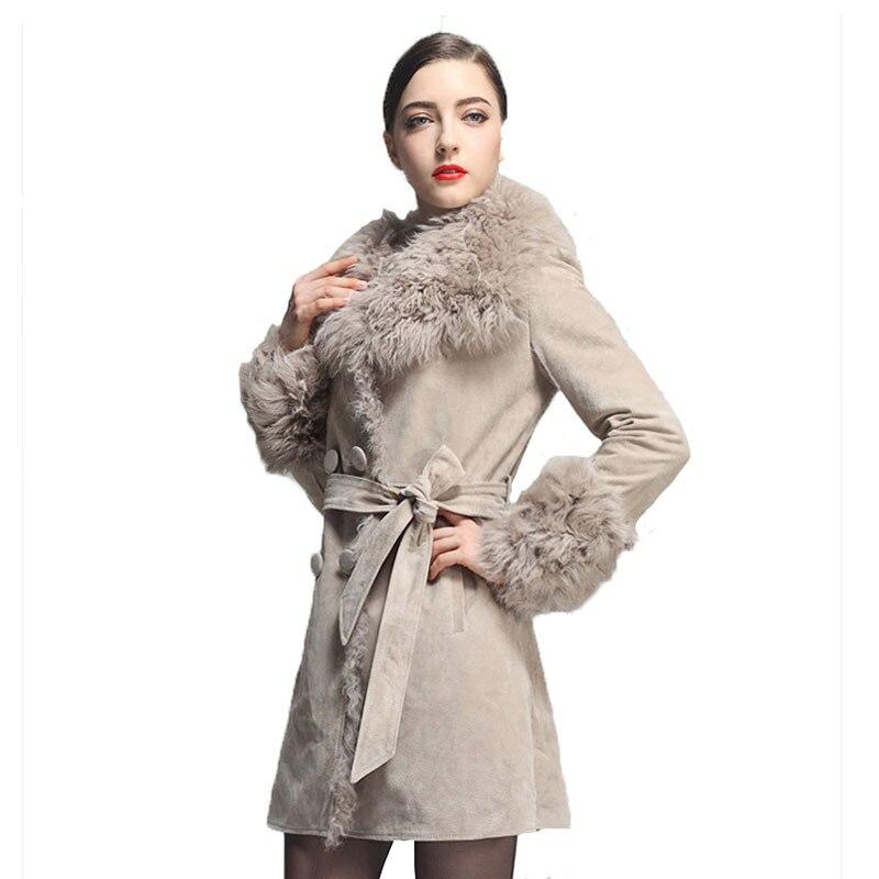 Aliexpress.com : Buy UPS FREE Long Genuine Leather Coat Women