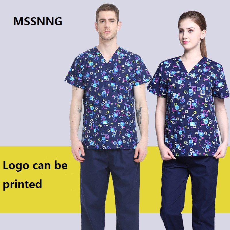 Women And Men Medical Wear Summer Doctor Sets Scrub Nurse Uniforms Hospital Clothing Lab Workwear Top And Pant Cheap Suits