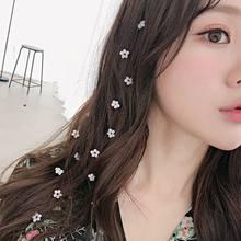 Pince à cheveux pour femmes, mode coréenne, perle, coiffure d'été, peigne Invisible, bandeau à fleurs, pince à cheveux, accessoires pour filles, 1 pièces
