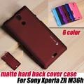 Cubierta, helada mate caso trasero duro para Sony Xperia ZR M36h C5503 c5502 + PROTECTOR de pantalla