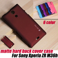 Matte Frosted HARD back Case Cover For Sony Xperia ZR M36h C5503 c5502+SCREEN PROTECTOR, free shipping
