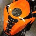 Brillo De Vinilo 3D Auto-Adhesivo de Espina de Pescado de La Motocicleta Del Tanque de Gas Protector Resistente A la Decoloración del Agua Para Las Motocicletas