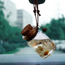 Car Perfume Bottle Air Freshener for Essential Oils Auto Ornament Perfume Pendant Empty Hanging Bottle Car Pendant(China)
