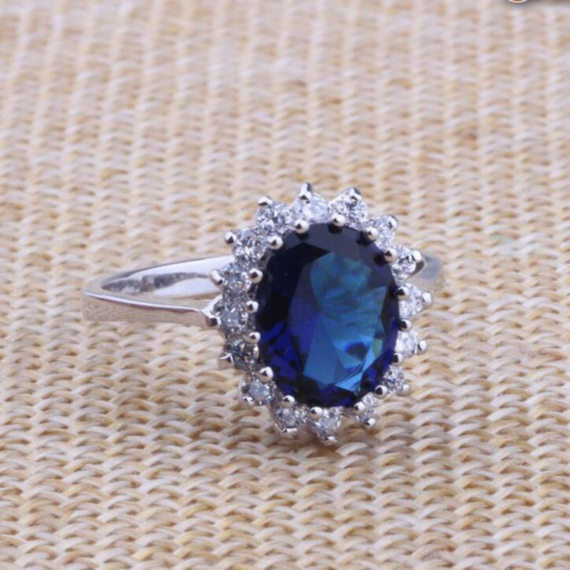 2018 Jewelry Plant Jewelry Rings Anillos New Arrival British Royal Princess Kate Engagement Ring Diana Prince William