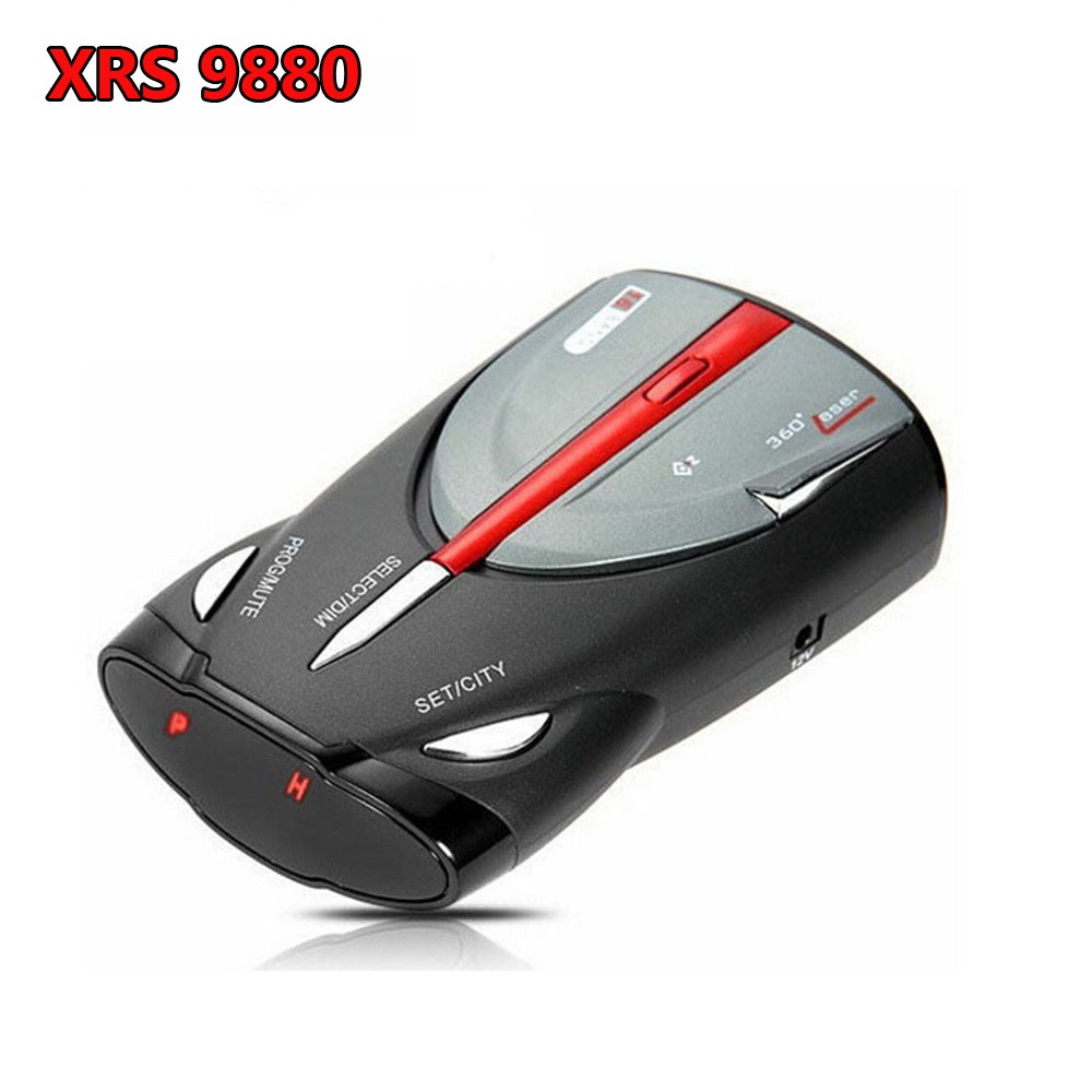 Upgraded 360 Degree Car 16 Band GPS Laser Detection Function Voice Alert Radar Detector Cobra XRS9880 Laser Anti Radar Detector