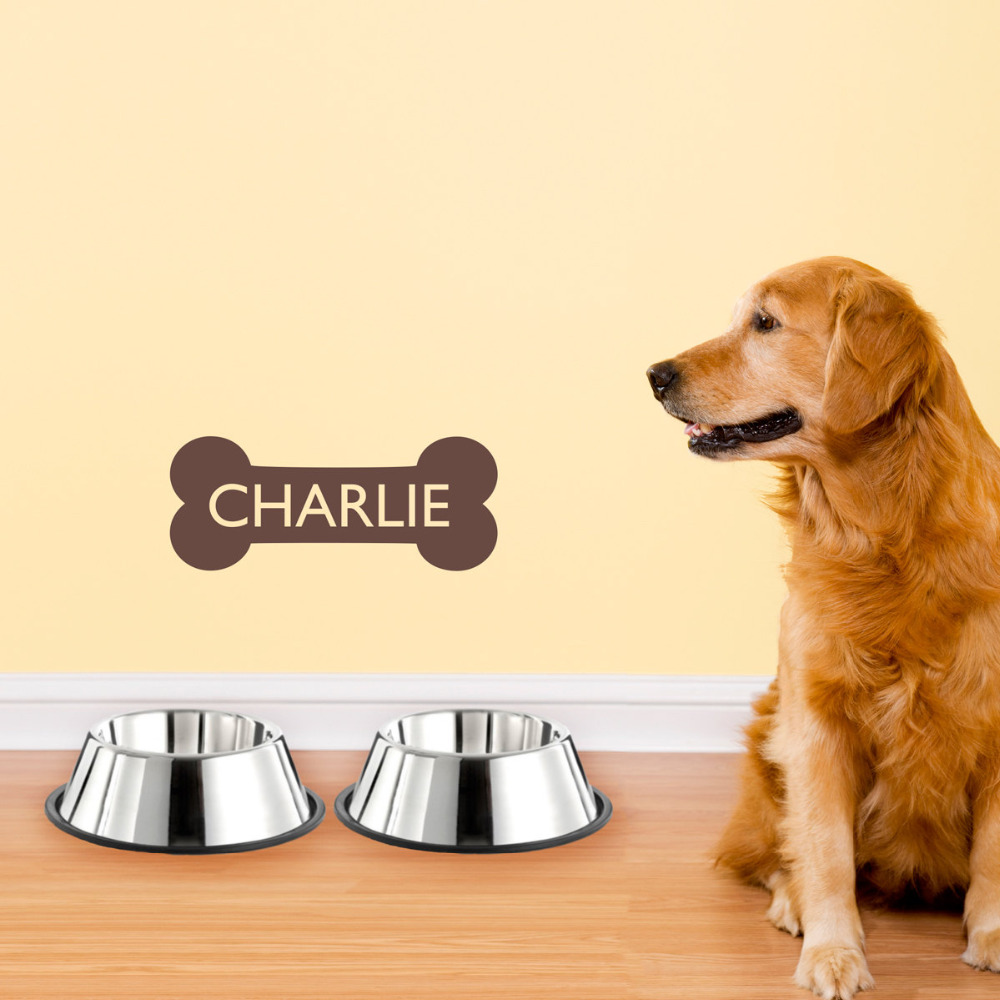 Custom Any Dogs Name Creative Dog Bone Vinyl Wall Sticker Home Decor ...