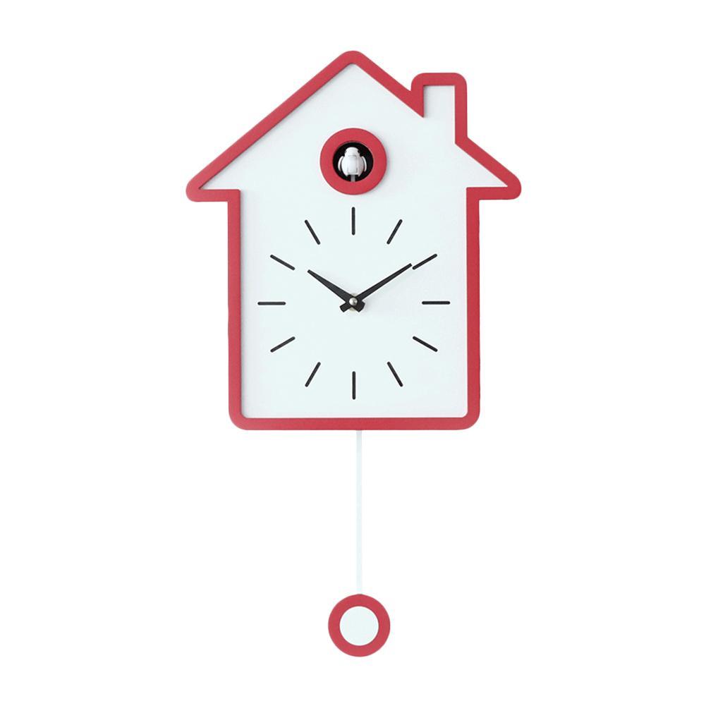AUGKUN coucou horloge salon mur réveil oiseau bref moderne carillon horloge enfants enfants décorations maison ornements - 3