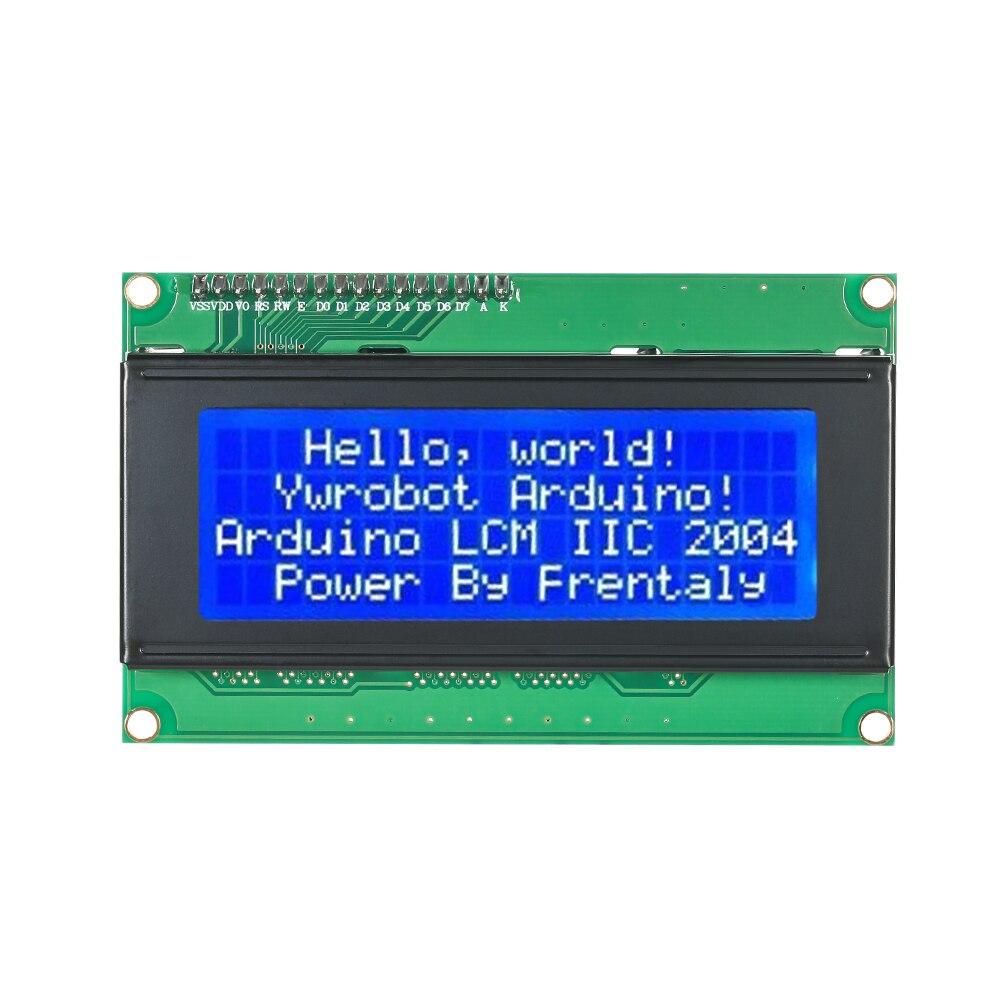 Serial IIC/I2C/TWI 2004 204 20X4 Character Blue LCD Display Module for Arduino