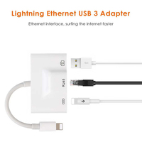 Adapter for Lightning to RJ45 Ethernet Broadband Cable Wired Network for iPhone all series Adapter