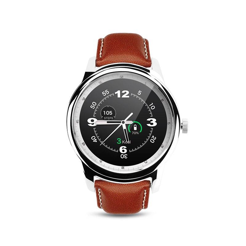 DM365 Bluetooth 4.0 Montre Smart Watch 360*360 IPS vue plein & Bracelet En Cuir Podomètre Sommeil Moniteur Soutien Hébreu Turc