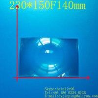 230*150 F140 lente condensador para 8 9 pulgadas diy proyector de lente de Fresnel envío gratis