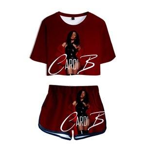 Image 2 - Rosa roupa de duas peças conjunto curto para as mulheres outfits 2019 2 peça conjunto feminino ropa sexy sweatsuit verão ensemble femme