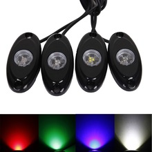 8 pcs Car-Styling Car Accessories LED Rock Light Kit Underbody Glow Trail Rig Lamp For Ford Jeep Truck SUV Off-Road Boat Toyota 8pods 9w rgb led led rock light with bluetooth control car light atmosphere lamp kit for jeep for suv trucks excavator ship