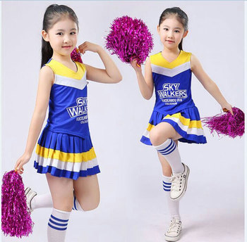 Children Competition Cheerleaders Girl School Team Uniforms KidS Performance Costume Sets Girls Class Suit Girl Student Suits