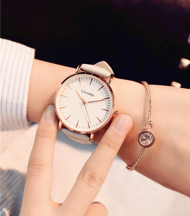 ulzzang Women Watches Luxury Leather Casual Fashion Brand 2017 Dress Quartz Wristwatches Women Ladies Watch стоимость