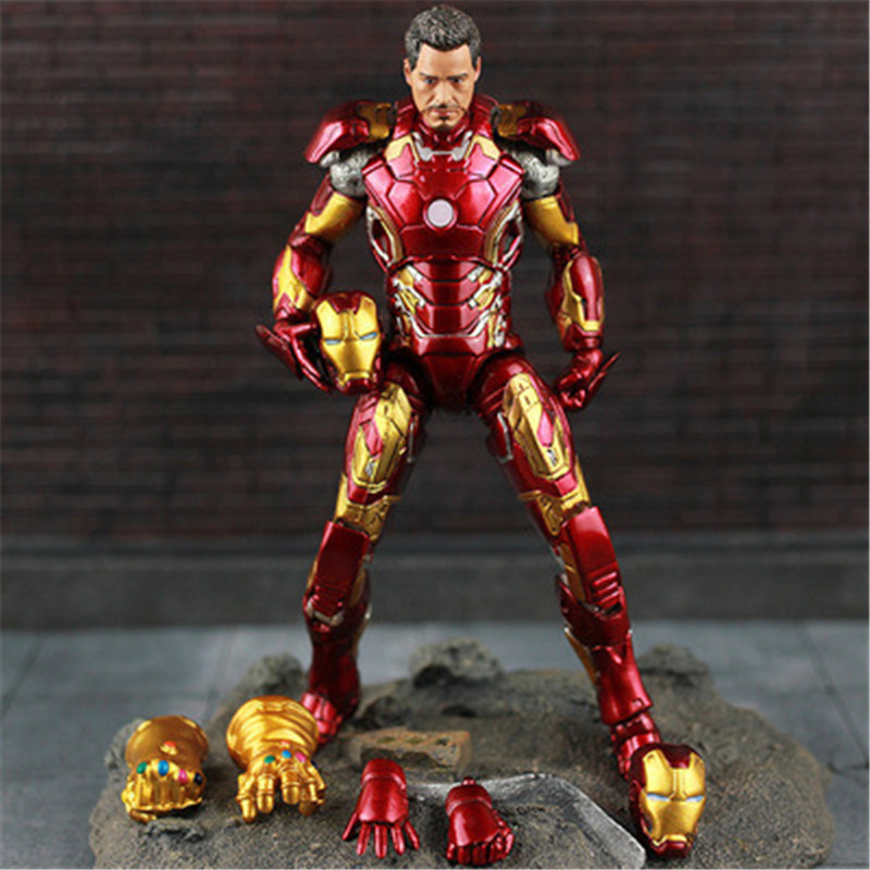 Image 2 - New Hot TheAvengers IronMan Action Figure Model 18 20cm MK42 MK43 Iron Man Doll PVC ACGN figure Toy Brinquedos Anime kids Toys-in Action & Toy Figures from Toys & Hobbies