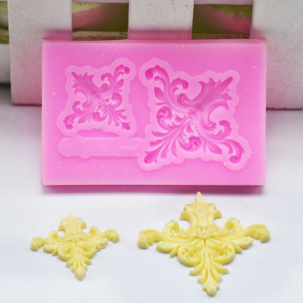 3D барокко прокрутки рельеф границы силиконовая форма рамка кекс Топпер инструменты для украшения тортов из мастики конфеты шоколадные формы для мастики candy mold flowers fondantcake border   АлиЭкспресс