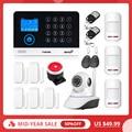 2019 Nuovo FUERS WG11 WIFI Senza Fili di GSM di Sicurezza Domestica Sistema di Allarme APP di Controllo Sirena RFID Rilevatore di Movimento PIR Sensore di Fumo kit FAI DA TE