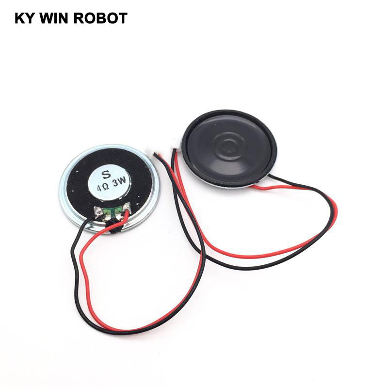 2pcs/lot New Ultra-thin Speaker 4 Ohms 3 Watt 3W 4R Speaker Diameter 40MM 4CM Thickness 5MM With PH2.0 Terminal Wire Length 15C