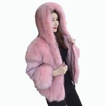 Натуральный мех пальто зимняя куртка женская одежда 2018 лисий мех пальто куртка Двусторонняя одежда Корейский Элегантный Slim Fit Короткое пальто ZT609