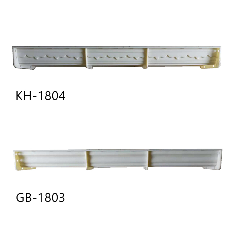 18cm (7.09 In)  Plain & Brace Pattern Balcony & Gardening Top-Bottom Shared Straight Precast Balustrade Rail Concrete Mold