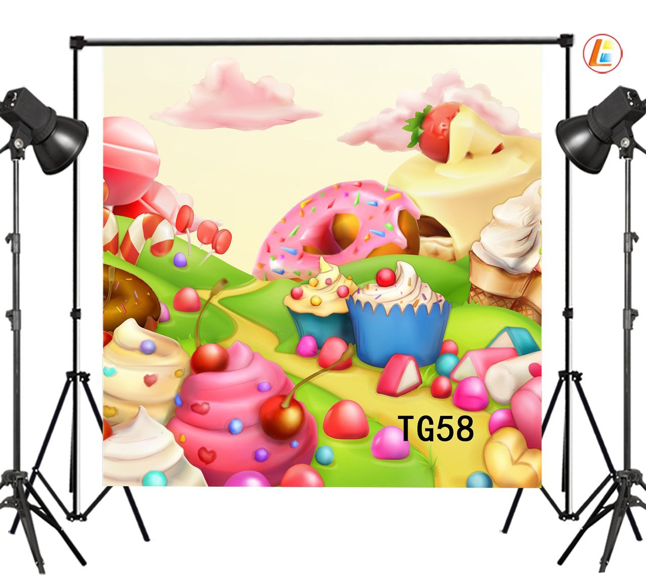 pink cake table Candy clouds photo studio background Vinyl cloth High quality Computer print wall photo backdrop